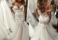 lace mermaid wedding dresses 2020 off shoulder appliques cap sleeves tulle backless sweep train wedding bridal gowns Capped Sleeve Wedding Dresses