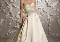 lazaro antique ivory satin 3018 traditional wedding dress size 6 s 81 off retail Lazaro Wedding Dress