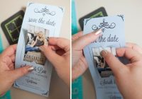 learn how to easily make your own magnet save the dates Wedding Invite Magnets