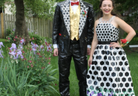 lincoln teens win 20000 for making prom dress tux out of Duct Tape Wedding Dress