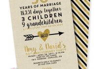 linen and gold 50th wedding anniversary invitation 50th Wedding Anniversary Photo Invitations