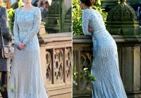 long sleeve blue wedding dresses 2021 gossip girl elie saab wedding gowns islamic dubai muslim bridal gowns real photos cheap wedding gown couture Blair Waldorf Wedding Dress