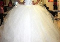 love how sparkly and poofy this wedding dress is poofy Big Poofy Wedding Dresses