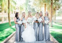 loving these glitsy bridesmaids dresses glam winter wedding Wedding Dresses Scottsdale Az