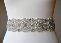 luxury 2 inch wide crystal bridal sash wedding dress sash belt pearls sashrhinestone bridal bridesmaid sash wedding dress sash chloe Wedding Dress Sashes And Belts