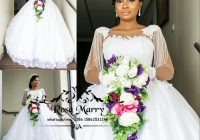 luxury bellanaija lace ball gown wedding dresses 2020 3d floral vintage lace long sleeves beading nigeria african dubai country bridal gowns halter Bella Naija Wedding Dresses
