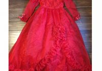 lydia deetz inspired wedding dress red prom lace Lydia Deetz Wedding Dress