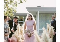 mandy moore gets married in a pink wedding dress Mandy Moore Wedding Dress