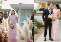 mandy moore gets married in a pink wedding dress people news Mandy Moore Wedding Dress