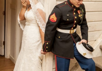 marines wedding prayer photo goes viral the hollywood gossip Marine Dress Blues Wedding