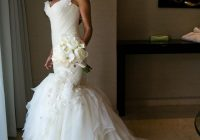 mark zunino ivory tulle organza silk mermaid gown modern wedding dress size 4 s 93 off retail Mark Zunino Wedding Dresses