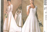 mccalls 8559 wedding dress princess seams keyhole back Mccall Wedding Dress Patterns