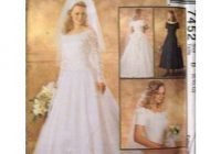 mccalls bridal gown dress pattern 7452 size b 8 12 uncut 023795745222 on ebid united states 107767902 Mccall Wedding Dress Patterns