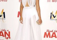 meagan good see through prom dress think like a man too la Meagan Good Wedding Dress