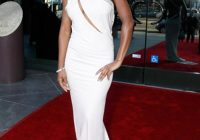 meagan good sexy white evening dress naacp theater awards Meagan Good Wedding Dress