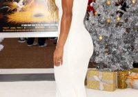 meagan good white formal evening prom celebrity dress the Meagan Good Wedding Dress