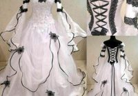 medieval black and white gothic wedding ball gown victorian country bridal dress Black And White Gothic Wedding Dresses