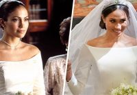 meghan markles dress looked like jlos from the wedding Jlo Wedding Dress