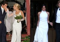 meghan markles second wedding dress channels carolyn Carolyn Bessette Wedding Dress