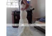 mermaid trumpet one shoulder court train organza satin Lightinthebox Wedding Dress Reviews