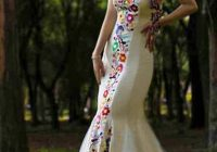 mexican wedding dress embroidered dres for social occasion Mexican Embroidered Wedding Dress