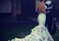 mexican wedding dresses Mexican Embroidered Wedding Dress