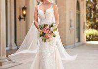 mixed fabric bridal gown with double banded waist stella Wedding Dresses For Seniors