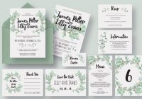 Modern eucalyptus wedding invitation suite eucalyptus wedding Wedding Save The Date And Invitation Packages Design