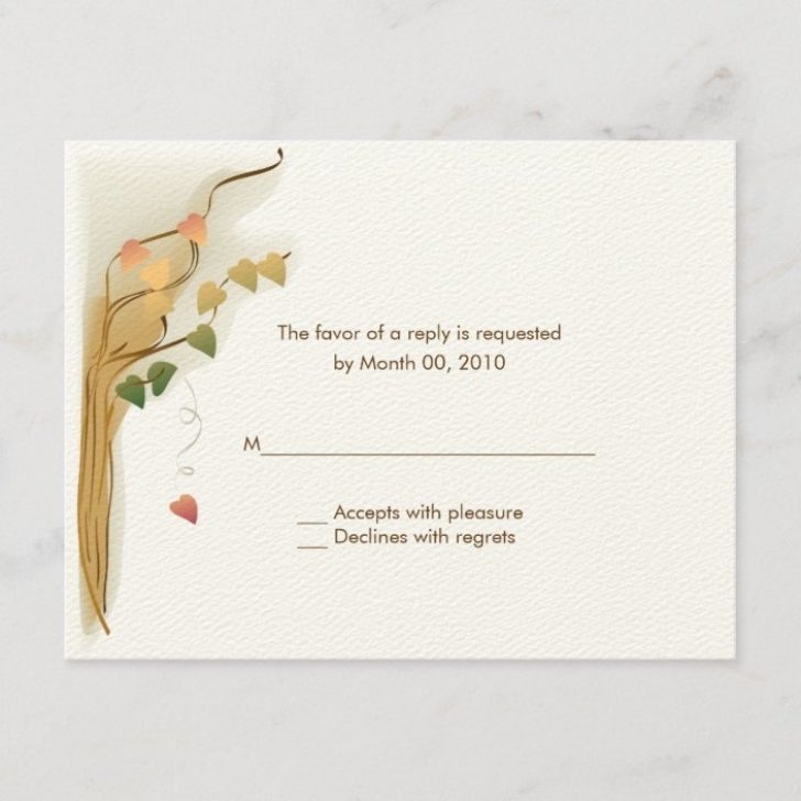 Permalink to Wedding Invitations Reply Cards Design