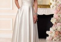 Modern simple elegant satin wedding dress for older brides over 40 Trendy Mature Wedding Dresses Ideas