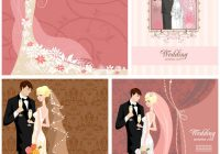 modern wedding invitations with bride and groom vector Wedding Invitation With Pictures Of Bride And Groom