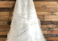 monique luo ivory polyester cy516 formal wedding dress size 4 s 75 off retail Monique Luo Wedding Dresses