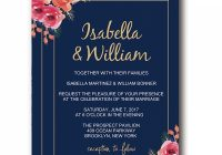 navy blue floral wedding invitations elegant wedding invitations blush and pink flowers boho watercolor pattern cheap wedding invitations spring Invitations Weddings