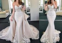 new arrival mermaid wedding dresses 2020 sweetheart neck sleeveless chapel train lace tulle bridal gowns with removable skirt mermaid tail wedding Mermaid Tail Wedding Dresses