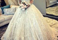 new luxurious ball gown wedding dresses 2021 glamorous long sleeves tulle appliques fitted puffy bridal gowns bc0325 cheap wedding dresses online Dh Gates Wedding Dresses
