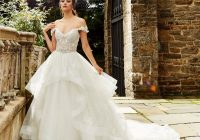 off the shoulder beaded bodice ball gown wedding dress Eve Of Milady Wedding Dresses