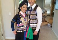 one of traditional hmong wedding outfits hmong stripes Hmong Wedding Dress