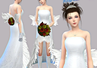 p the sims 4 final fantasy x yuna wedding set cosplay Yuna Wedding Dress