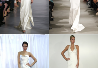 photos clockwise from top left ines di santo vera wang Carolyn Bessette Wedding Dress