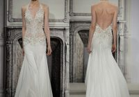 pnina tornai 2021 exquisite design see through wedding dresses mermaid halter ivory chiffon appliques beads sweep train bridal gowns wedding dress Pnina Tornai Wedding Dresses For Sale