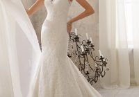 poetic lace trimmed with crystal beading wedding dress morilee Mori Lee Blu Wedding Dresses