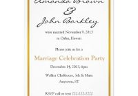 post wedding marriage celebration party invitation zazzle Post Wedding Dinner Invitation Wording