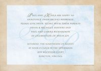 post wedding reception invitation wording wedding Post Wedding Dinner Invitation Wording