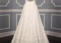 pronovias diamond white off white lace and dotted swiss tulle udine formal wedding dress size 10 m 37 off retail Dotted Swiss Wedding Dress