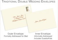 properly address pocket invitations without inner envelopes Proper Way To Address Wedding Invitations