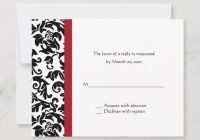 red and black damask wedding rsvp cards zazzle Cheap Damask Wedding Invitations