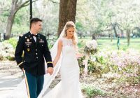 romantic military wedding at forsyth park savannah georgia Army Dress Blues Wedding
