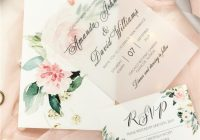 romantic pink floral layered wedding invitations swpi075 stylishwedd Wedding Invitations Photos
