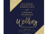 rose gold glitter typography navy blue printable wedding invitation Invitations Weddings