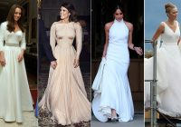 royal brides and their second wedding dresses from Kate Middleton Reception Wedding Dress